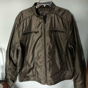Guess men's nylon bomber jacket.